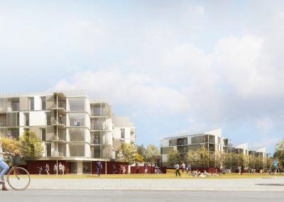 Construction de 75 logements en structure bois, Bussy-Saint-Georges